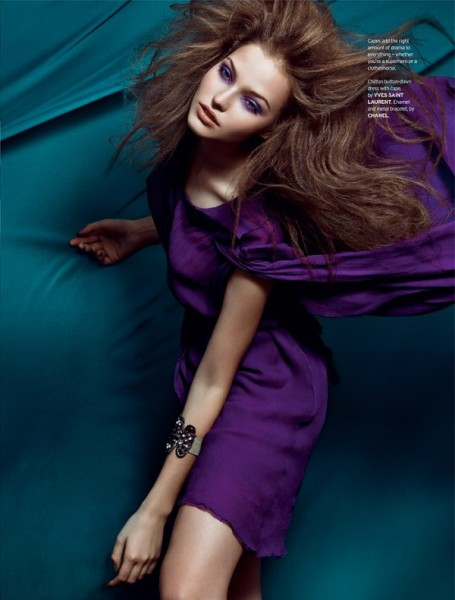 Sasha Luss by Zhang Jingna for <em>Elle Singapore</em> December 2010