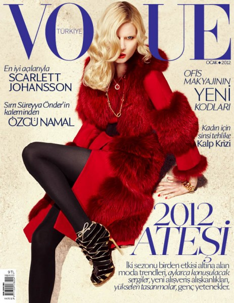 <em>Vogue Turkey</em> January 2012 Cover | Elsa Sylvan by KT Auleta