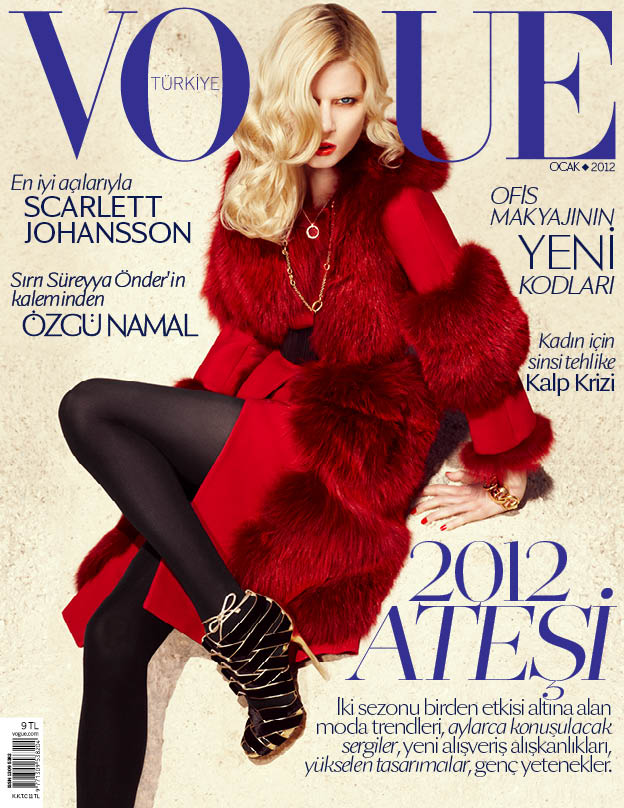 Vogue Turkey January 2012 Cover | Elsa Sylvan by KT Auleta