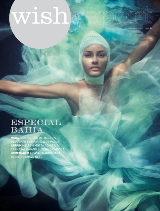 Wish Report Brazil February 2010 Cover | Emanuela de Paula by  Jacques Dequeker