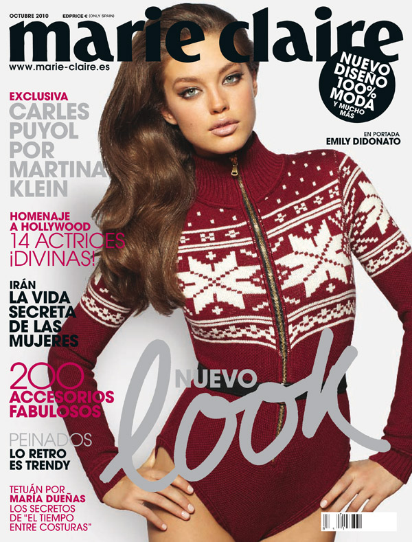 Marie Claire Spain October 2010 Cover   Emily DiDonato by David Roemer