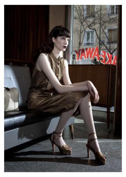 Emma Wahlberg by Gorka Postigo in Loewe for Metal #27