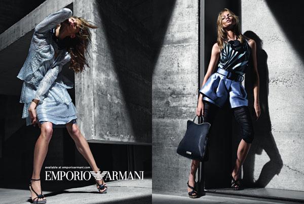 Anna Selezneva for Emporio Armani Spring 2011 Campaign (Preview)