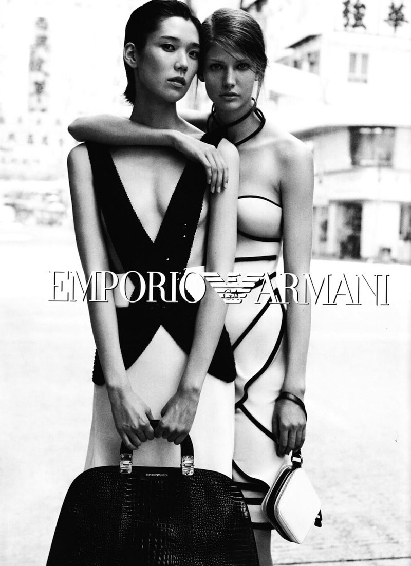 Tao Okamoto, Kendra Spears & Wang Xiao for Emporio Armani Spring 2012 Campaign
