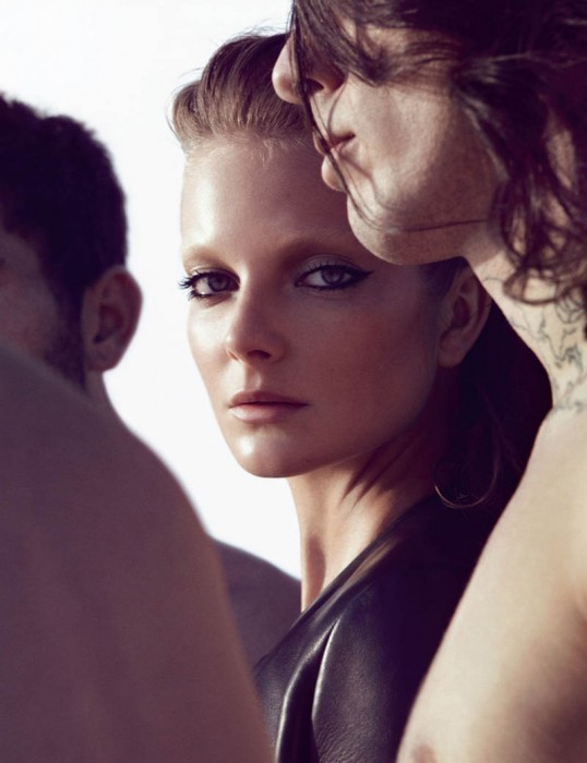 Eniko Mihalik by Camilla Akrans for Vogue Germany April 2012