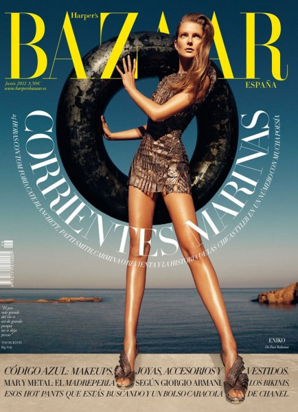 Eniko Mihalik Covers Harper's Bazaar Spain June 2012 in Paco Rabanne