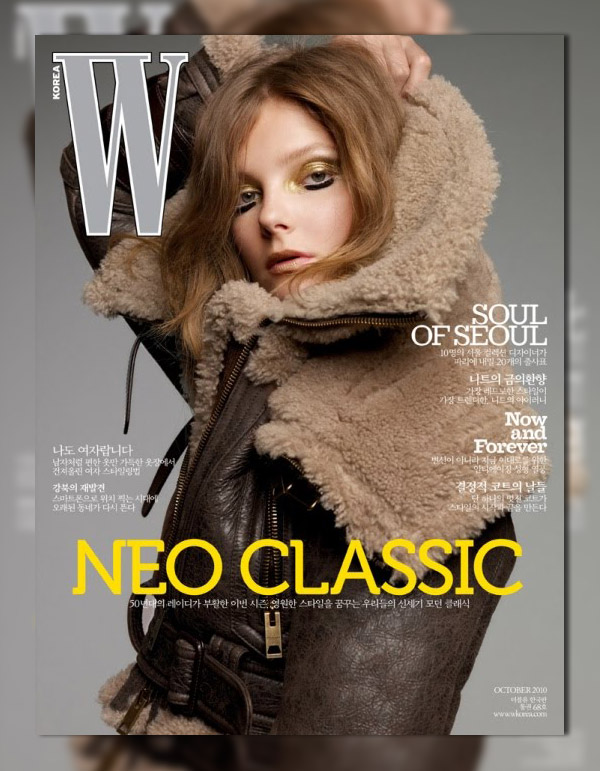 W Korea October 2010 Cover | Eniko Mihalik by Thomas Schenk