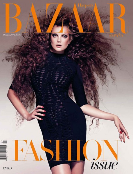<em>Harper&#8217;s Bazaar Spain</em> October 2010 Cover | Eniko Mihalik