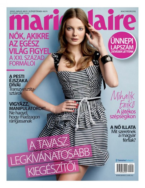 Marie Claire Hungary May 2010 Cover | Eniko Mihalik