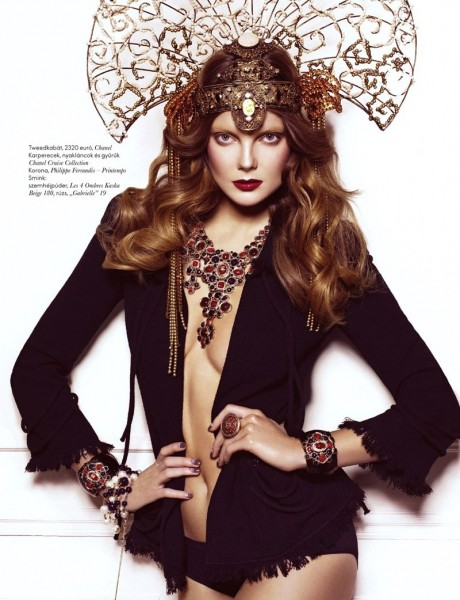 Eniko Mihalik by Sylvie Malfray | <em>Elle Hungary</em> March 2010