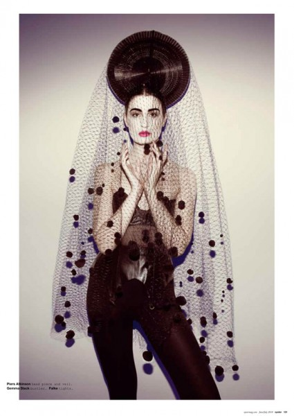 Erin O&#8217;Connor by Brooke Nipar for <em>Oyster</em> August 2010