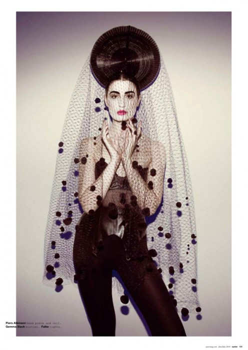 Erin O'Connor by Brooke Nipar for Oyster August 2010