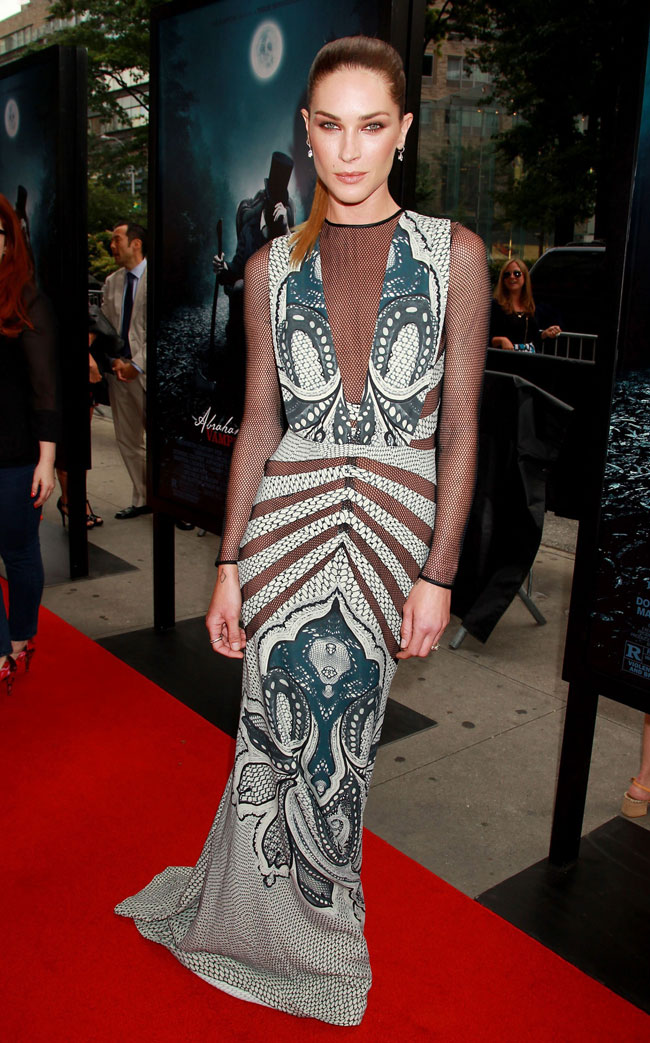 Erin Wasson Was Elegant in Etro at the 'Abraham Lincoln: Vampire Hunter' Premiere