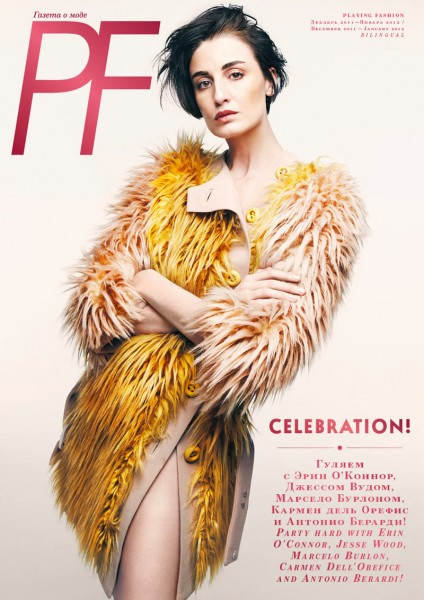 <em>Playing Fashion</em> December/January 2011.2012 Cover | Erin O&#8217;Connor by Jeon Seung Hwan