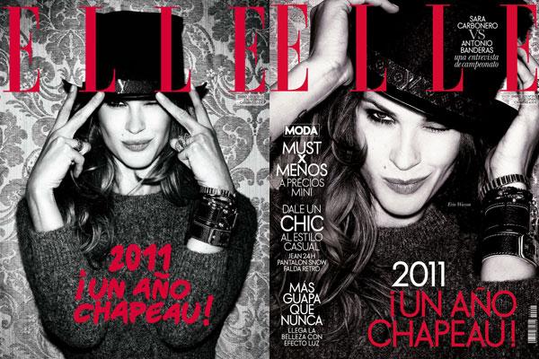 Elle Spain January 2011 Cover | Erin Wasson by Santiago Esteban