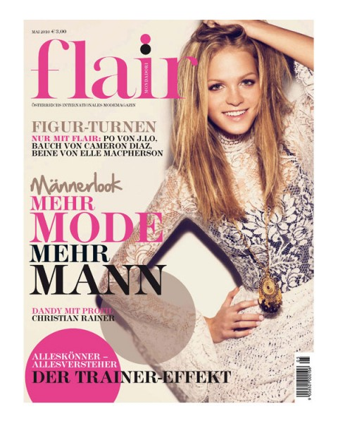 <em>Flair Austria</em> May 2010 Cover | Erin Heatherton