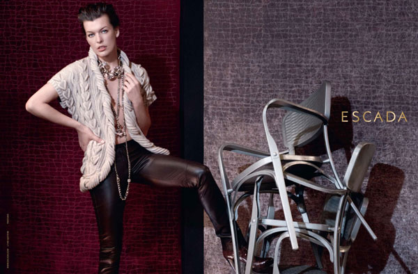 Escada Fall 2010 Campaign Preview | Milla Jovovich by Peter Lindbergh