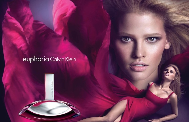 "Lara Stone is Red Hot for the Calvin Klein ""Euphoria"" Fragrance Campaign by Mert & Marcus"