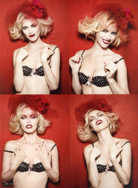 Eva Herzigova for <em>Vanity Fair Spain</em> September 2010 by Rankin