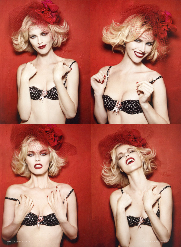 Eva Herzigova for Vanity Fair Spain September 2010 by Rankin