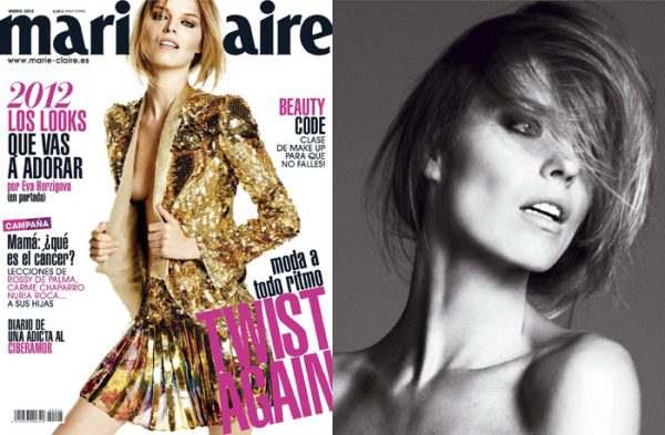 Eva Herzigova by David Roemer for <em>Marie Claire Spain</em> January 2012