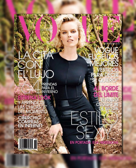 Vogue Latin America November 2010 Cover   Eva Herzigova by Marcin Tyszka