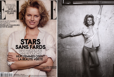 Eva Herzigova in Elle France