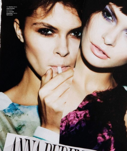 Anna Rudenko & Ana Clara Lasta by Michael Donovan for Factory Winter 2010