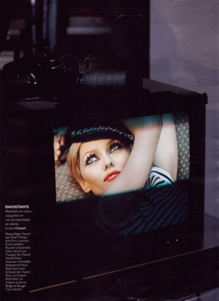 Vanessa Paradis by Karl Lagerfeld in Factory Story | <em>Madame Figaro</em>