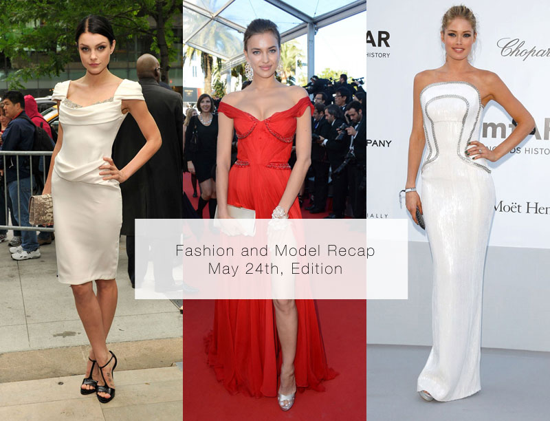 Jessica Stam in Marchesa, Irina Shayk in Roberto Cavalli, Doutzen Kroes in Versace & More Model Style
