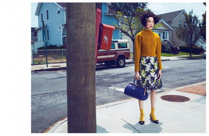Fei Fei Sun Dons Knitwear Styles for Vogue China September 2012 by Lachlan Bailey