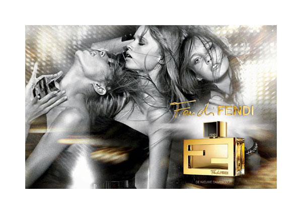 Fan di Fendi Fragrance Campaign | Anja, Abbey Lee & Karmen by Darius Khondji