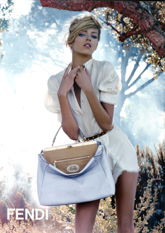 Fendi Spring 2010 Campaign Preview | Anja Rubik by Karl Lagerfeld