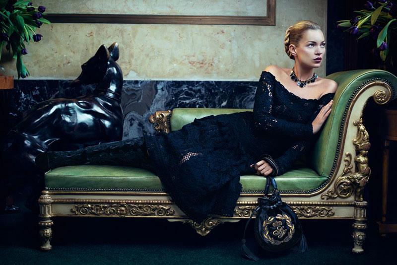 Kate Moss & Karmen Pedaru Exude Elegance in Salvatore Ferragamo's Fall 2012 Campaign by Mikael Jansson