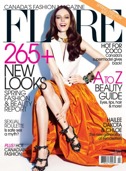 <em>Flare</em> February 2012 Cover | Coco Rocha by Chris Nicholls