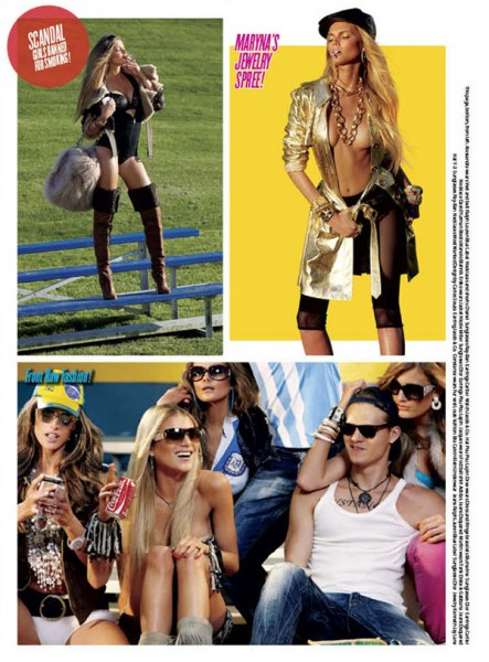 Alessandra Ambrosio & Dree Hemingway in Footballers' Wives for V Issue #66