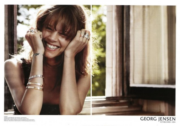 Freja Beha Erichsen for Georg Jensen Jewelry Campaign by Sebastian Faena