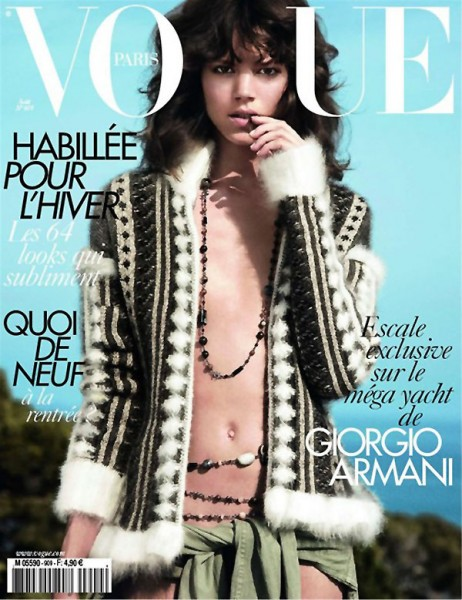 <em>Vogue Paris</em> August 2010 Cover | Freja Beha Erichsen by David Sims