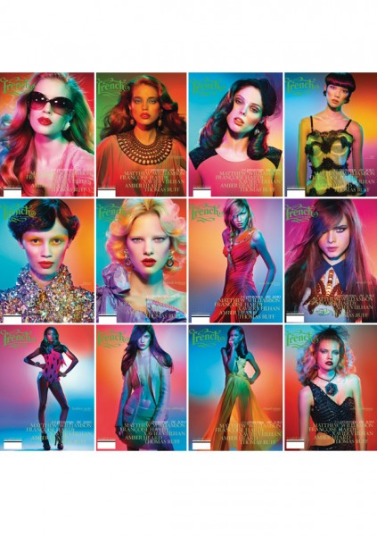 <em>French Revue de Modes</em> Spring/Summer 2010 Covers | 12 Girls by Thierry Le Gouès s