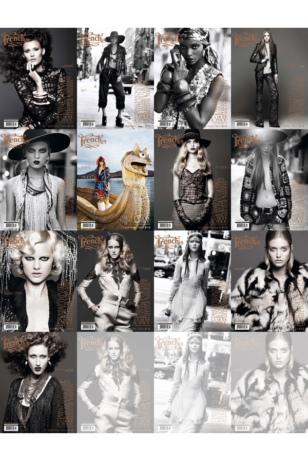 French Revue de Modes Fall / Winter 2010 Covers   13 Models by Thierry Le Gouès