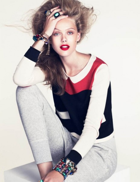 Frida Gustavsson by Andreas Sjodin for H&M Magazine Winter 2010