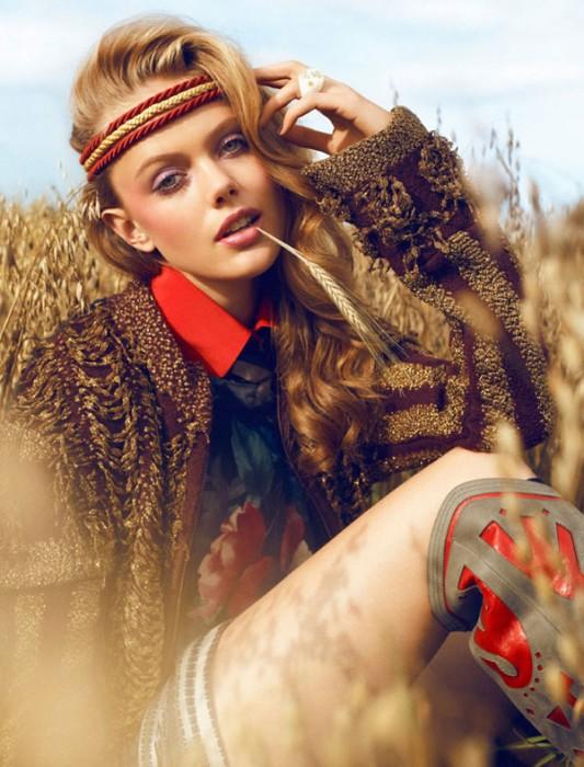 Frida Gustavsson by Magnus Magnusson for Elle Sweden November 2010