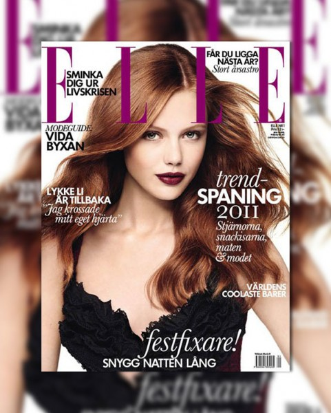Frida Gustavsson for <em>Elle Sweden</em> January 2011