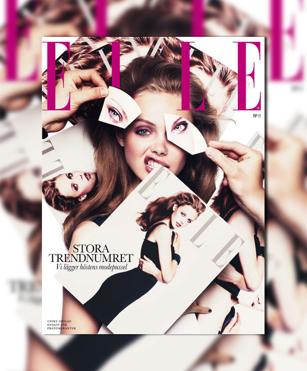Elle Sweden September 2010 Cover | Frida Gustavvsson