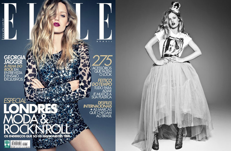 Georgia May Jagger by Jacques Dequeker for Elle Brazil April 2012