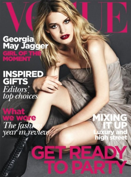 Vogue Australia December 2010 Cover   Georgia May Jagger