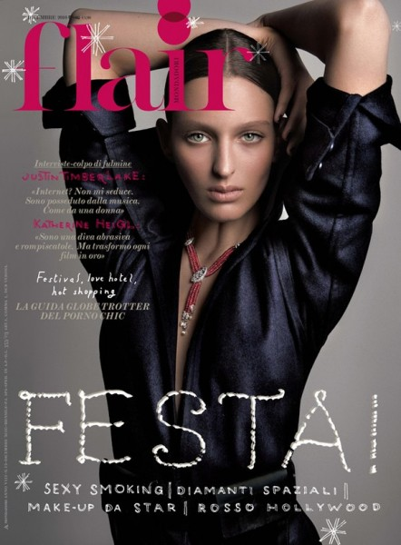 <em>Flair</em> December 2010 Cover | Georgina Stojiljkovic by Jean-François Campos
