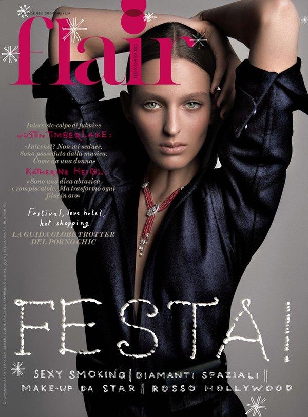 Flair December 2010 Cover   Georgina Stojiljkovic by Jean-François Campos