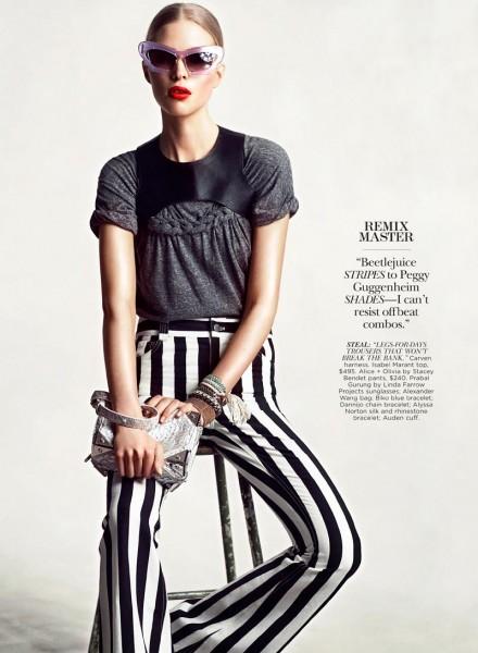 Amanda Embodies Street Star Style in Flare July 2012, Lensed by Chris Nicholls
