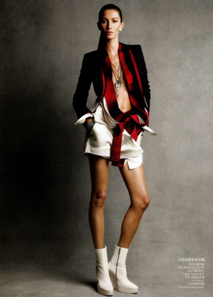 Gisele Bundchen for <em>Vogue China</em> February 2011 by Patrick Demarchelier